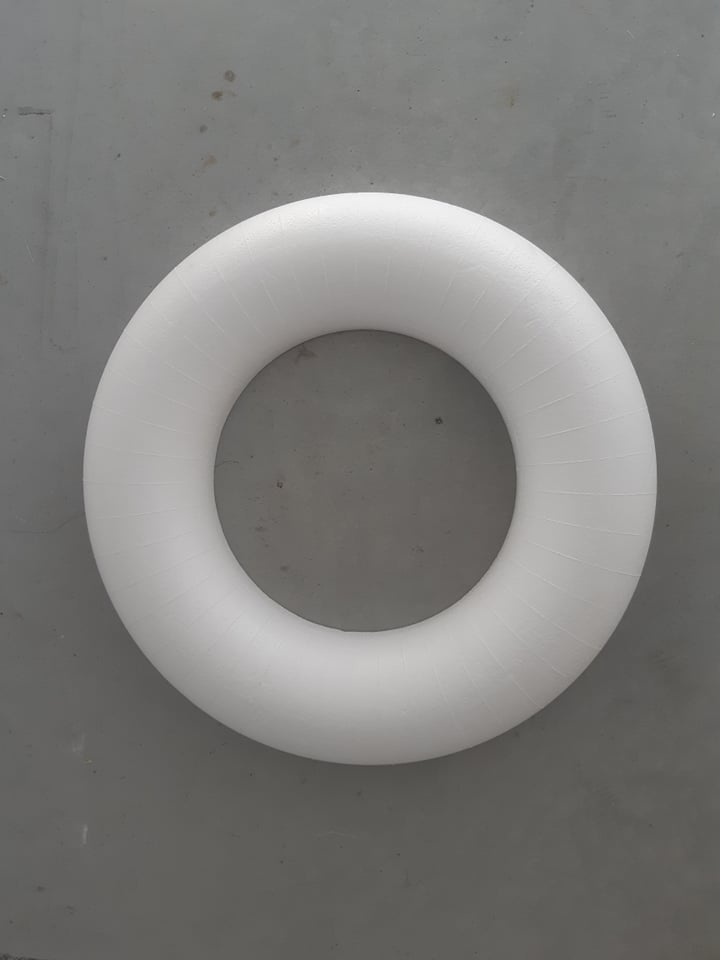 image of polystyrene ring, polystyrene ring, polystyrene circle, polystyrene ring, EPS ring, tempex ring, polystyrene cutting, polystyrene mold, pie dummy, polystyrene pie, polystyrene pie, sculpting polystyrene, polystyrene blocks, setprop, film prop, film attribute, prop, prop in styrofoam, stage prop, television prop, television prop, blowup, styrofoam blow up, blow up in styrofoam, eyecacther, stage props, props, set construction, decoration, blow up for photo shoot